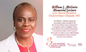 Dra. Olufunmilayon Olapade receberá prêmio este ano no próximo San Antonio Breast Cancer Symposiun